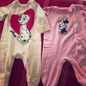 Disney Footie outfits (used once)